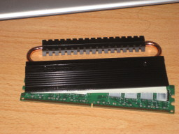 Slightly melted memory module